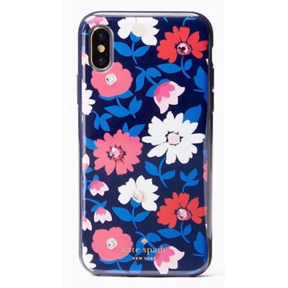 size 40 8c5f2 6a5e9 Kate Spade Jeweled Phone Case iPhone 8 Plus 7 Plus NWT